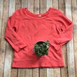 J. Crew | Coral sweatshirt!